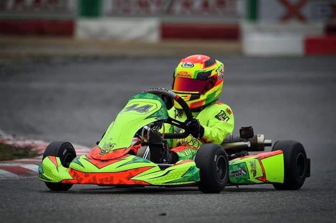 Marco Verde al Kartodromo Iscaro per il Campionato Regionale Campania