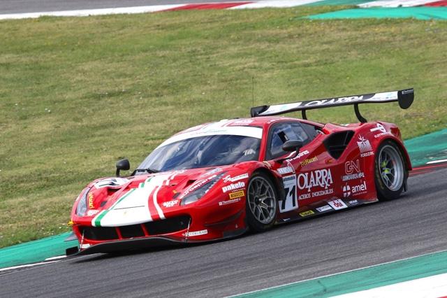 Primi punti per Rovera all'esordio con la Ferrari 488 GT3 al Mugello